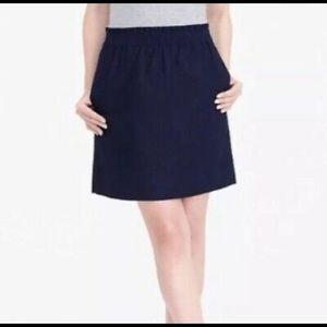 J. Crew factory linen side walk mini skirt sz. 8
